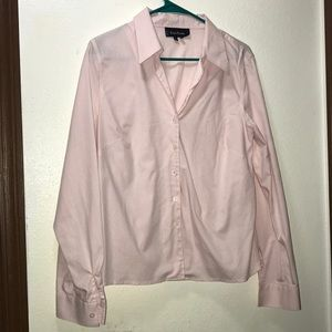 Evan Picone Sweet Pink Button Up Size 12 Like New